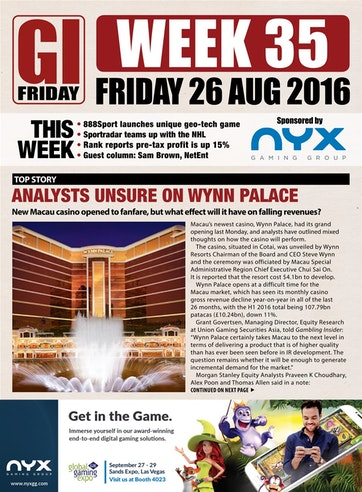 The Gambling Insider Friday Preview